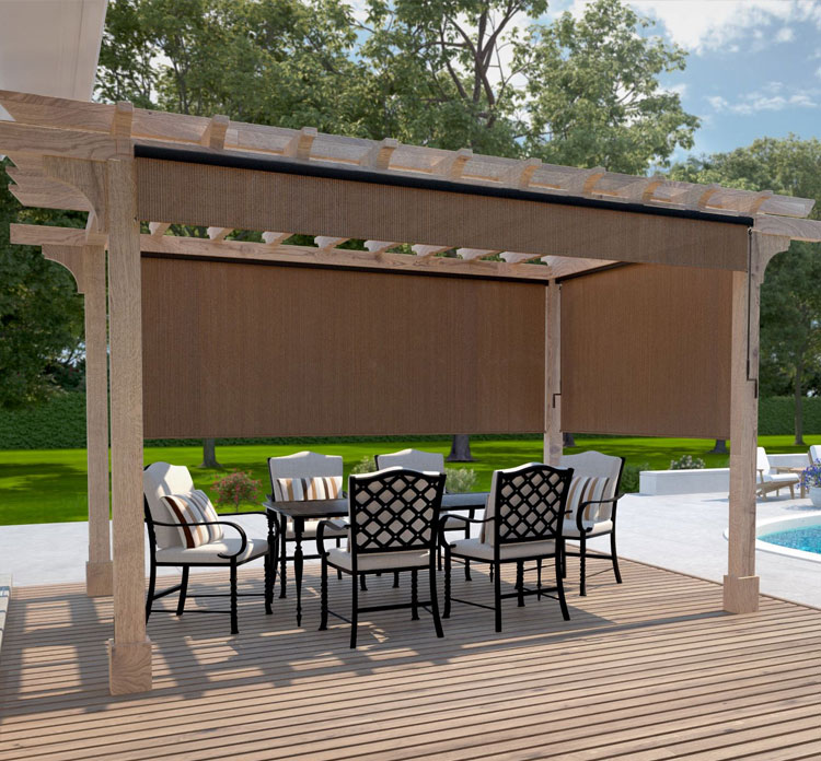 Outdoor Roller Blinds By Luxury Blinds Bali